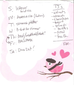 Weekly Menus: 7/15/2012