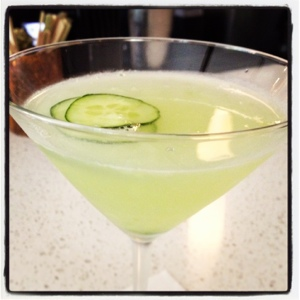 Totally counts as a vegetable. Cucumber gimlet for the win!
