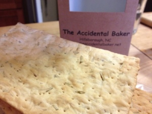 The Practical Cooks Junior loved these rosemary flatbread crackers, accidentally baked or not!