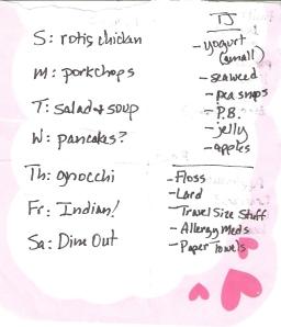 Weekly Menus: 8/19/2012