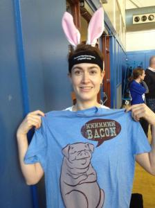 Will don ears and bacon for charity! Annual #v0dgeball tournament for Wounded Warrior Project.