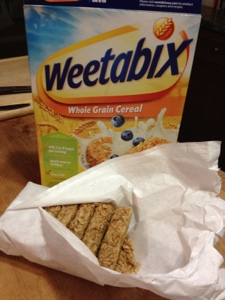 Cute little Weetabix biscuits.