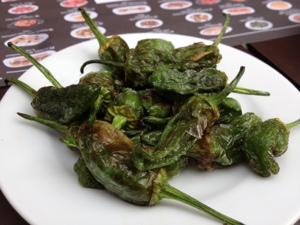 My other weakness, padron peppers. They are not spicy, just salty and delicious.