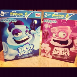 BooBerry and FrankenBerry Taste Challenge: Scary Cereals
