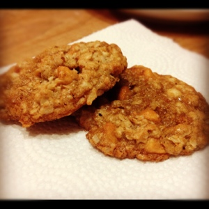 Oatmeal Scotchies with Macadamia Nuts for the win!