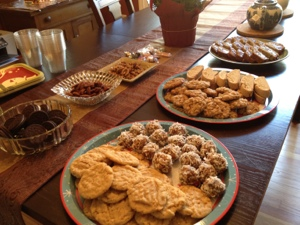 My kind of buffet: cookie party!