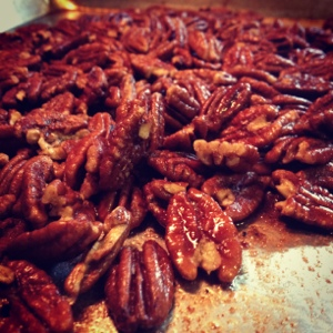 Buffalo Spiced Pecans: Beautiful but a Work in Progress