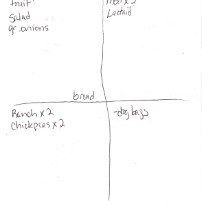 The Four-Square Grocery Shopping List: 12/2/2012