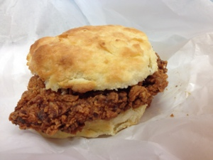 Fried Chicken Biscuit from Rise