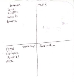The Four-Square Grocery Shopping List: 1/6/2013