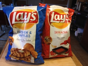 The Contenders: Lay's Chicken and Waffles Potato Chips vs. Sriracha