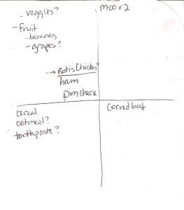 The Four-Square Grocery Shopping List: 3/17/2013