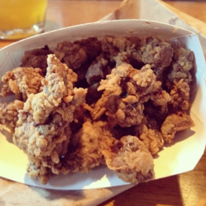 Deep-Fried Turkey Livers from the WS Food Truck Rodeo. Win!