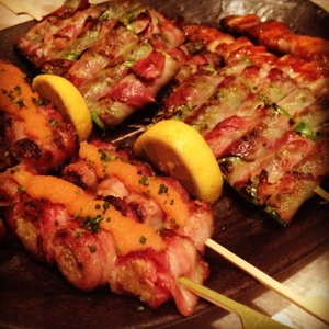 Bacon wrapped everything from Mizumi.