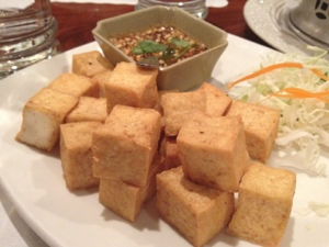 We ate family style at this family friendly restaurant: Lotus of Siam!