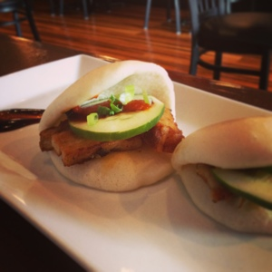 Pork Belly Buns from Lucha Tigre: Run Don't Walk (Cucumber makes it healthy)