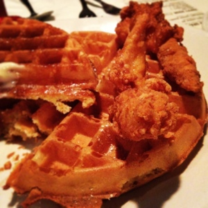 My dinner twice last week. Chicken and waffles!