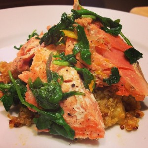 Salmon and Arugula over Quinoa: It rocked