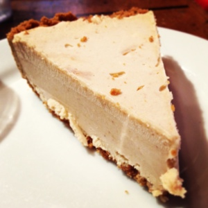 Peanut butter pie was not overly sweet, but full of flavor. No crumb left behind.