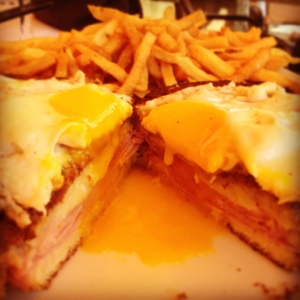 Croque Madame? Oui. (From Vin Rouge)