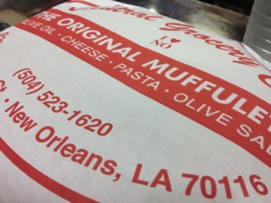 I discovered that muffulettas make a great breakfast! The whole from Central Grocery.