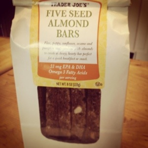 Trader Joe's Five Seed Almond Bars, How I Love Thee.