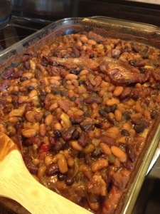 Beer and Bacon Baked Beans Completed!
