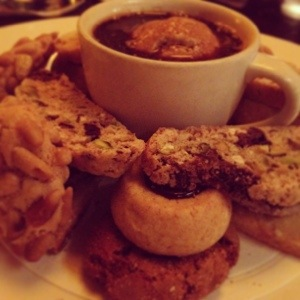 Biscotti and Cookie Platter at Babbo in NYC. OMG good.