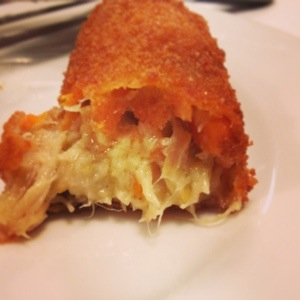 My favorite from the week: a chicken, vegetable, and cheese croqueta from El Canalla.
