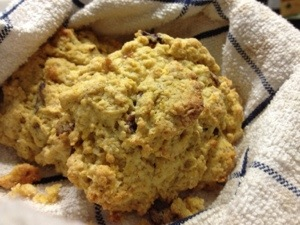 Nice texture and warmth, this scone mix is pretty easy to work with.