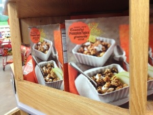 Pumpkin granola cereal from Trader Joe's, in aggregate.
