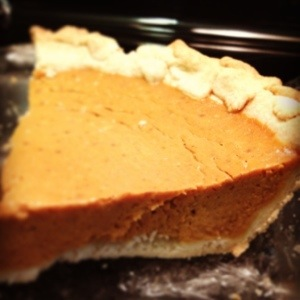 Almost from scratch pumpkin pie. Hold the Cool Whip please.