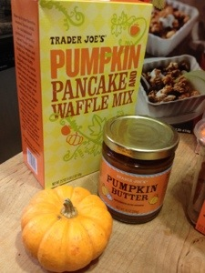 So much pumpkin at Trader Joe's: butter and mix and decorative gourds oh my!