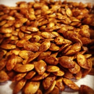 Snack of the Week: Roasted Pumpkin Seeds!