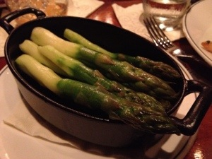 Asparagus from the Bull and Bear at The Waldorf Astoria in New York. My favorite thing on the menu.