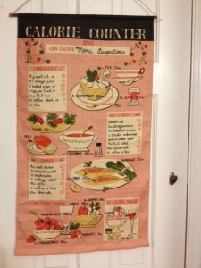 My latest kitchen acquisition: calorie counter from days gone by.